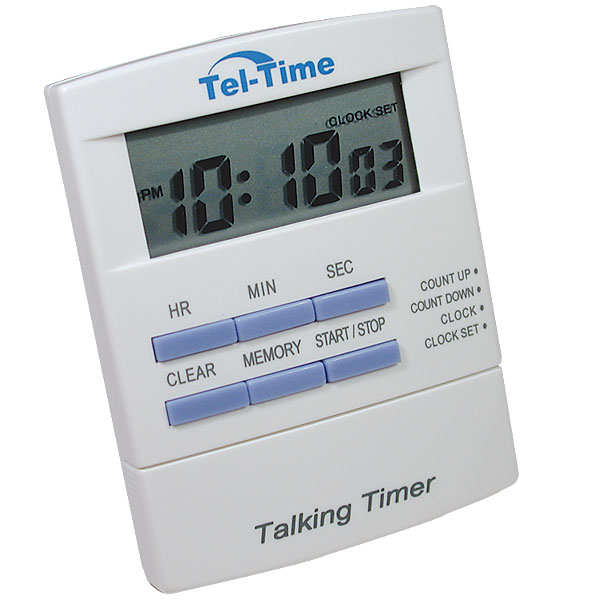 tel timer talking countdown timer. Black Bedroom Furniture Sets. Home Design Ideas