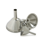 FUNNELS, SET OF 3 (Stainless steel)