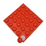 Bump Dots - Orange Round (25 per pack)