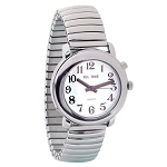 Unisex Tel-Time Talking Watch- Chrome Expansion