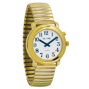 Unisex Gold-Tone One Button Talking Watch